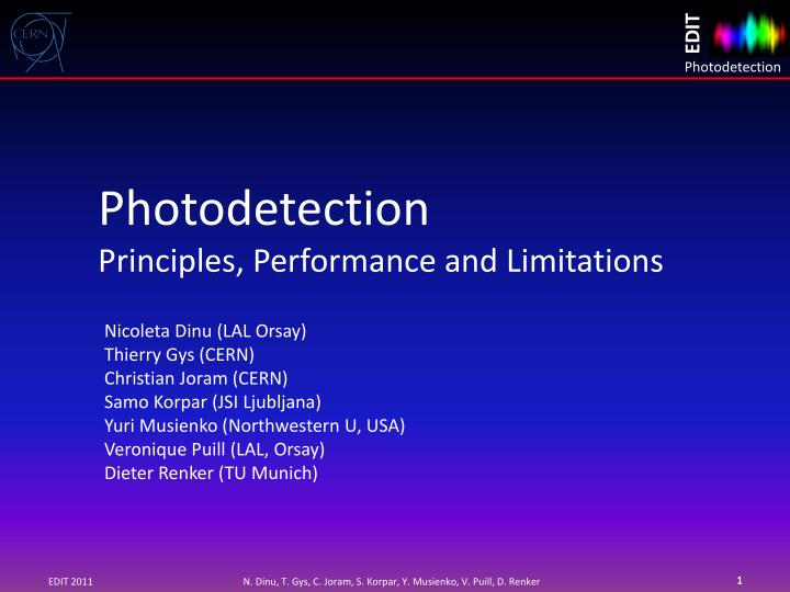 Photodetection