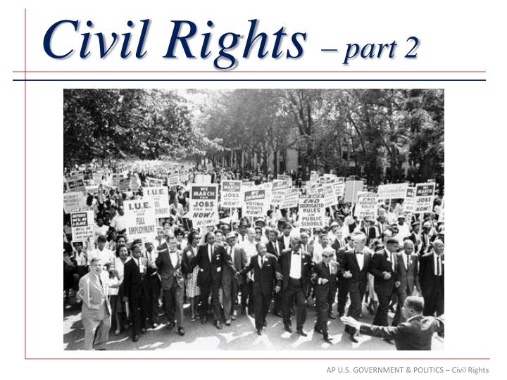 5 paragraph essay on civil rights movement The civil rights movement was the national effort in the 50s and 60s to eliminate segregation to gain equal rights many individuals and organizations challenged segregation and discrimination with a variety of activities, including protest marches, boycotts, and refusal to abide by segregation laws.