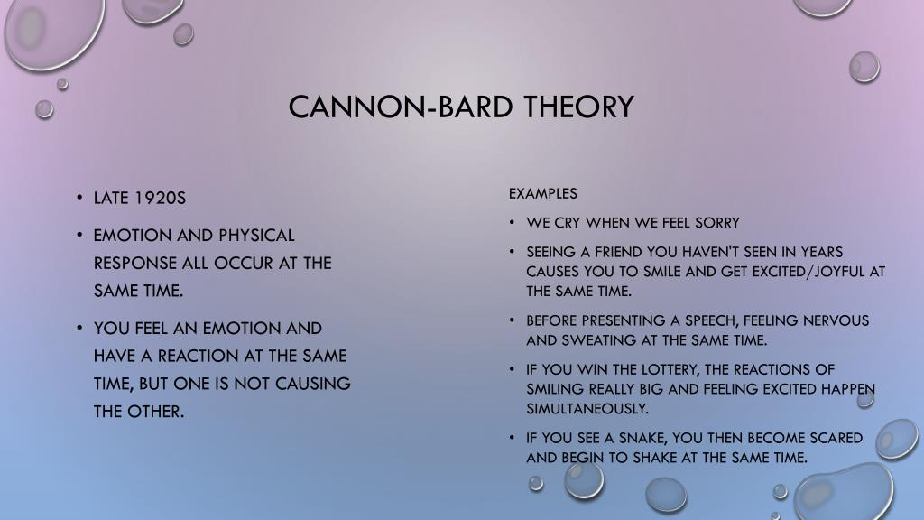 cannon bard theory example