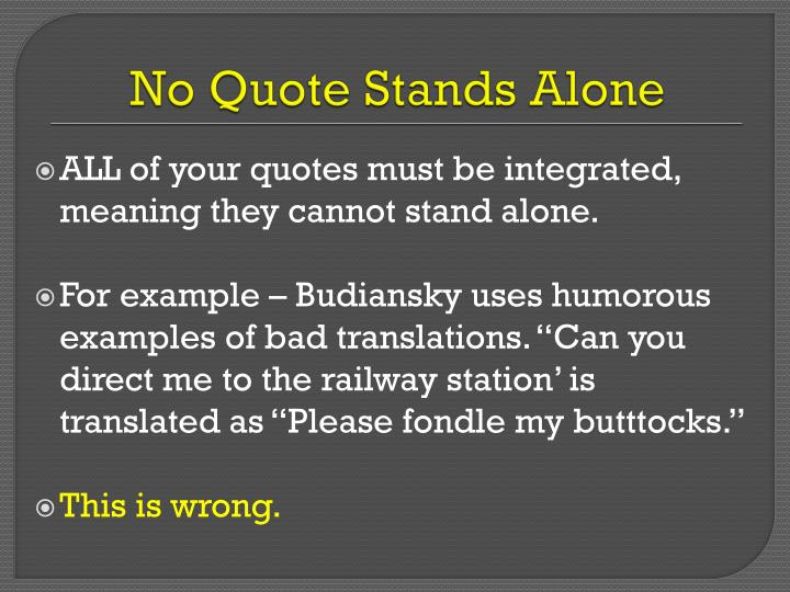 No Quote Stands Alone