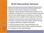 brief intervention services