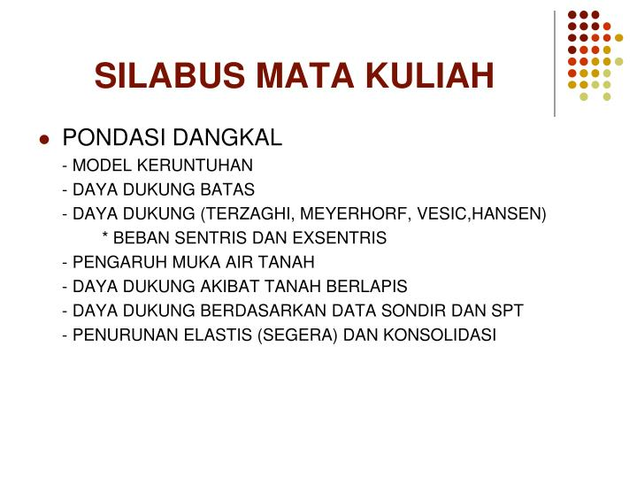 Ppt Silabus Mata Kuliah Powerpoint Presentation Free Download Id 2804773
