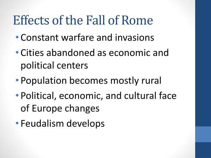 Effects of the Fall of Rome