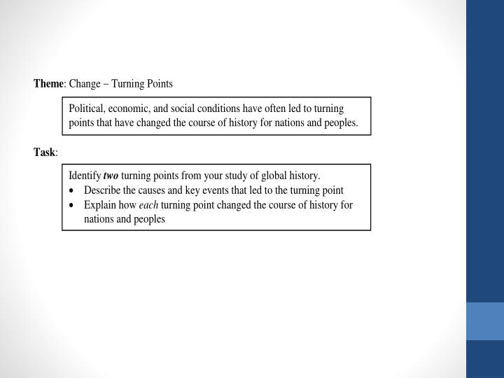 Global studies regents review turning points in history