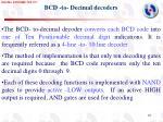 bcd to decimal decoders