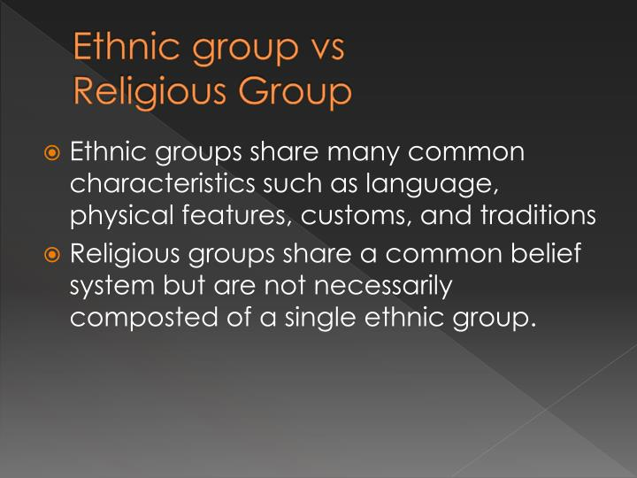 religious and ethnic groups 6 essay Currently exist between, among and within ethnic and religious groups in nigeria each of the pre-amalgamation ethnic groups was whole and undivided, and to some extent, enjoyed the historical era that this essay seeks to reflect on under the phase three of this analysis is the post-independence.