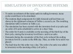 simulation of inventory systems9