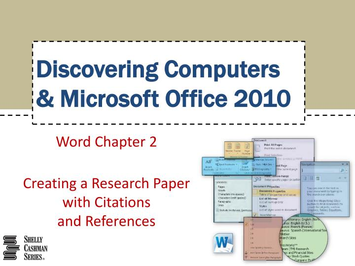 word chapter 2 creating a research paper with citations and references n.
