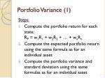 portfolio variance 1