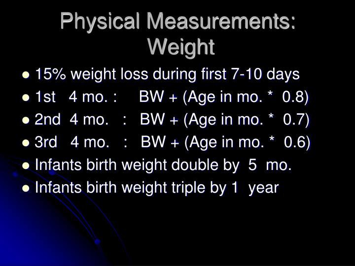 Physical Measurements: