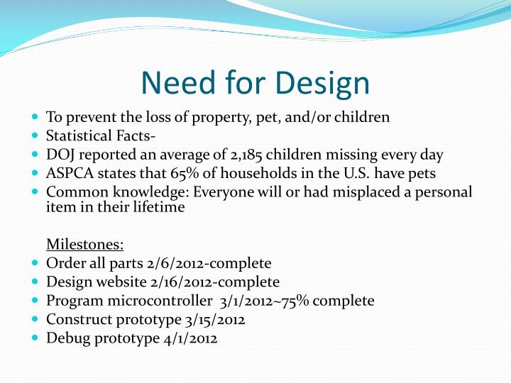 Need for design
