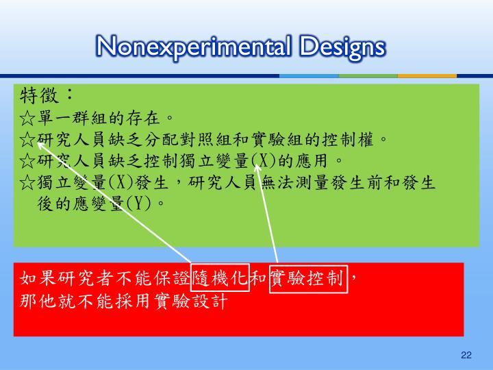 Nonexperimental