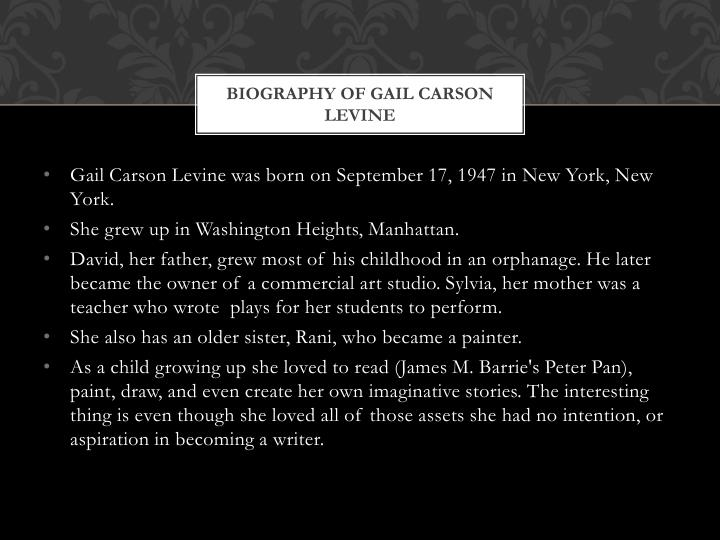 Biography of gail carson levine
