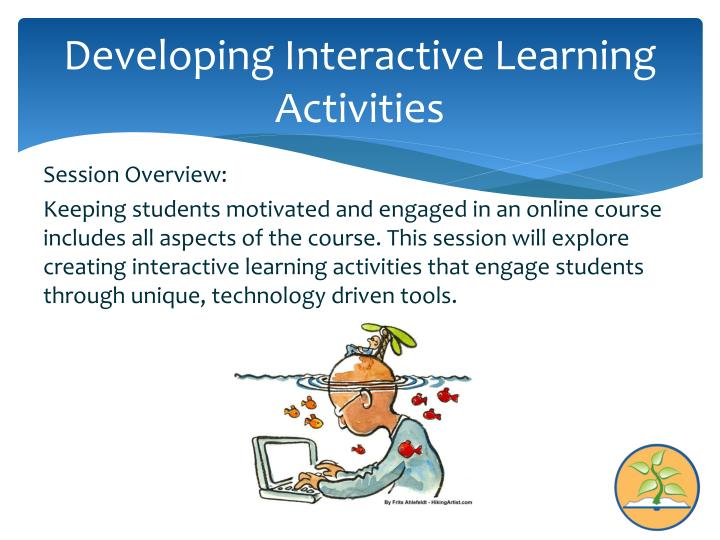 Developing interactive learning activities