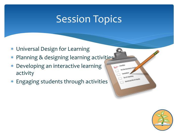 Session Topics