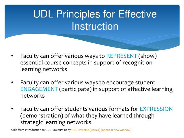 UDL Principles for Effective
