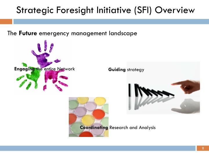 Strategic foresight initiative sfi overview