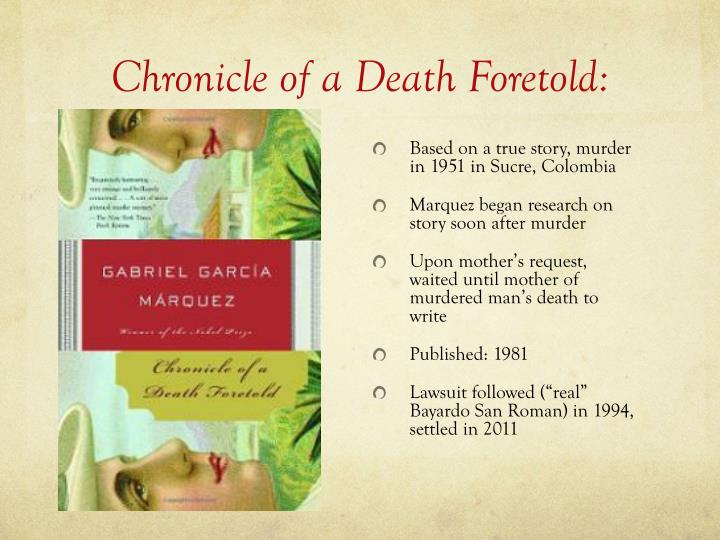 PPT - Chronicle of a Death Foretold: PowerPoint ...