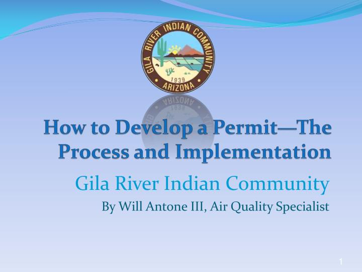 how to develop a permit t he process and implementation n.