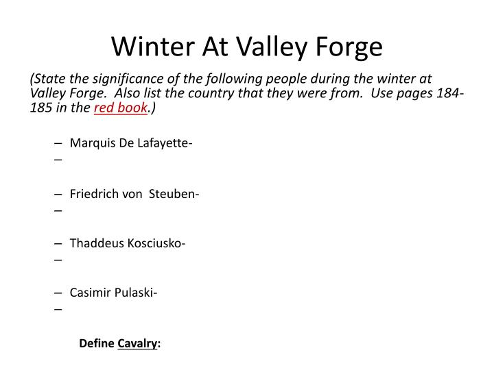 winter at valley forge n.