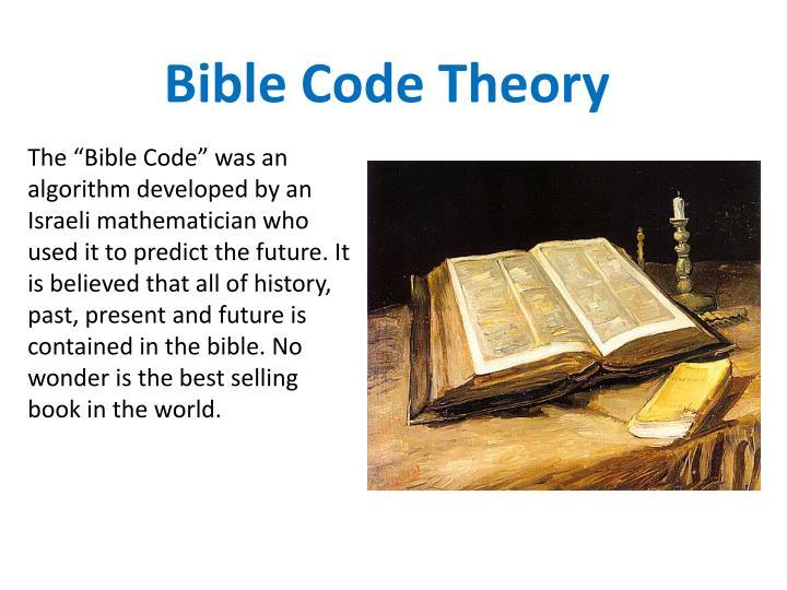 Bible Code Theory