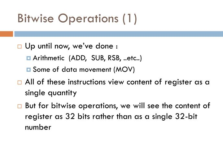 Bitwise operations 1