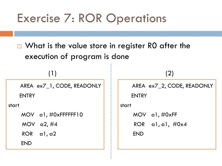 Exercise 7: ROR Operations