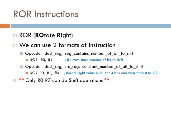 ROR Instructions