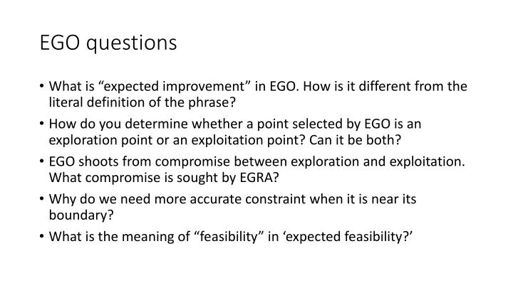 EGO questions