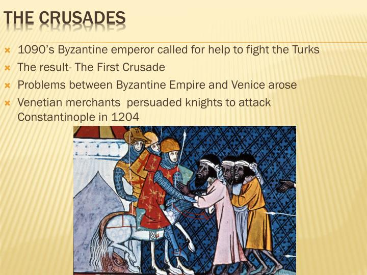 1090's Byzantine emperor called for help to fight the Turks