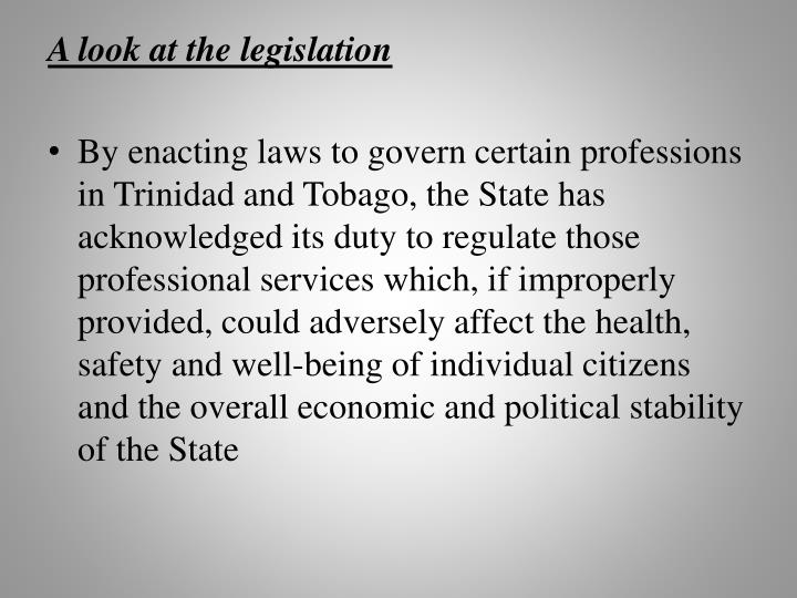 A look at the legislation