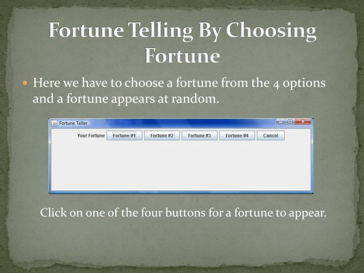 Fortune Telling By Choosing Fortune