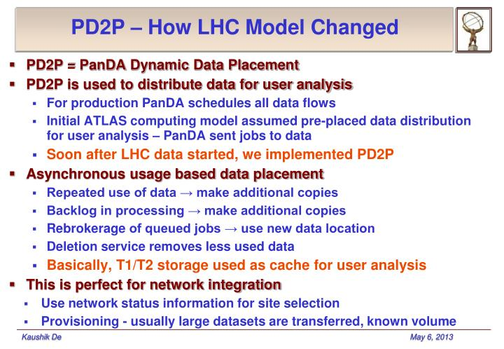 PD2P – How LHC Model Changed