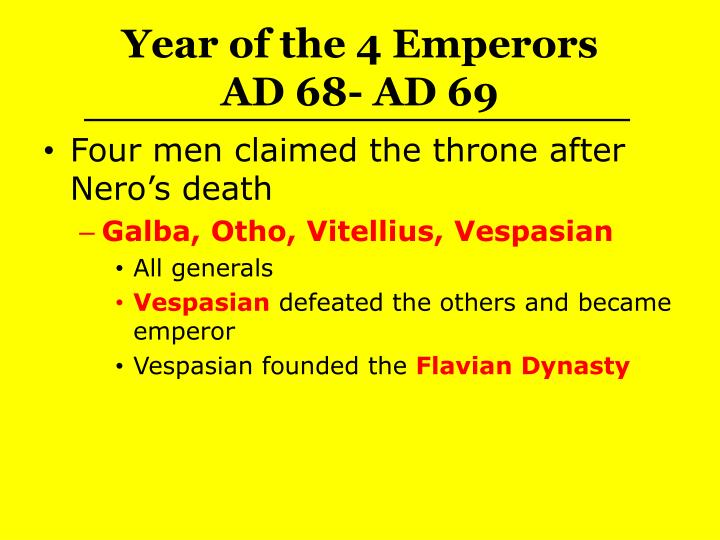 Year of the 4 Emperors