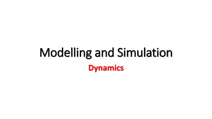 modelling and simulation n.