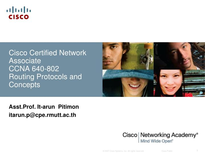 cisco certified network associate ccna 640 802 routing protocols and concepts n.