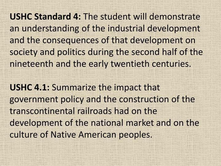 USHC Standard 4: