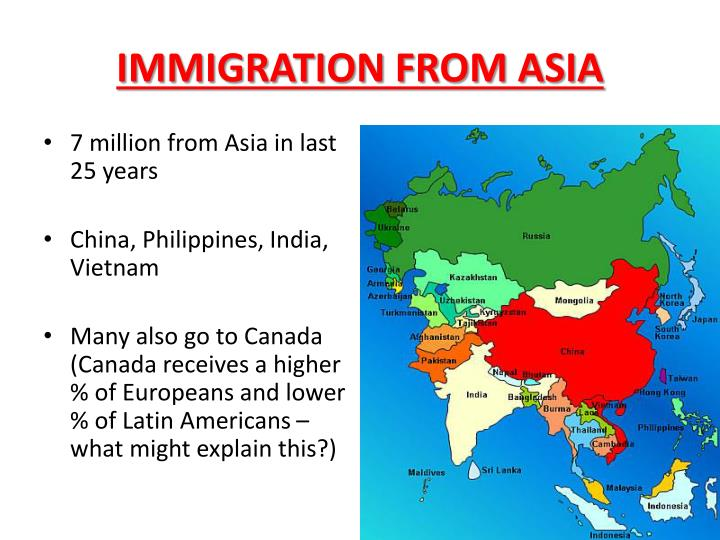 IMMIGRATION FROM ASIA