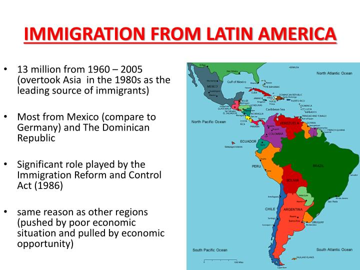 IMMIGRATION FROM LATIN AMERICA