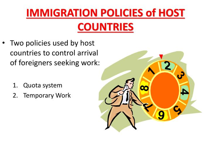 IMMIGRATION POLICIES of HOST COUNTRIES