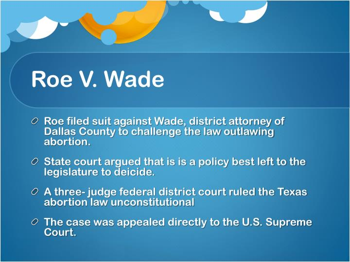 roe vs wade case study Roe v wade: the abortion rights controversy in american history, 2nd edition (landmark law cases and american society) 2 rev exp edition.