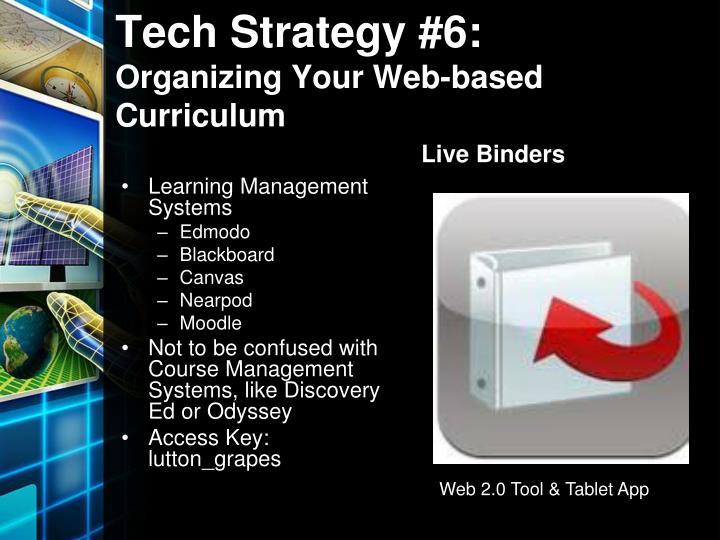 Tech Strategy #6: