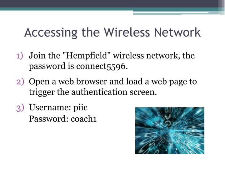 accessing the wireless network n.
