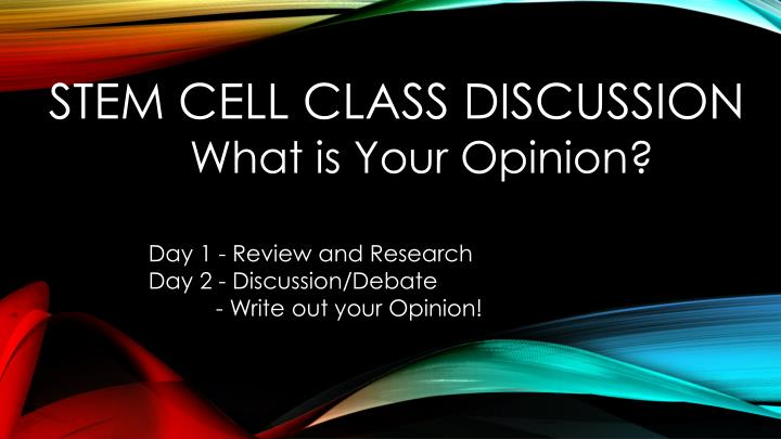 stem cell class discussion n.
