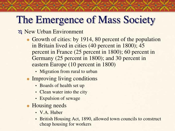 the emergence of mass society n.