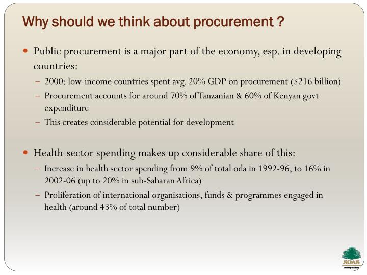 Why should we think about procurement