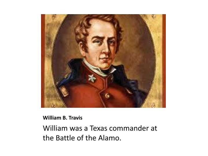 William b travis