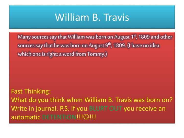 William b travis1