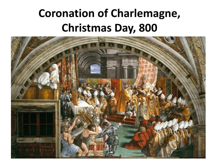 coronation of charlemagne christmas day 800 n.