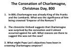 the coronation of charlemagne christmas day 800